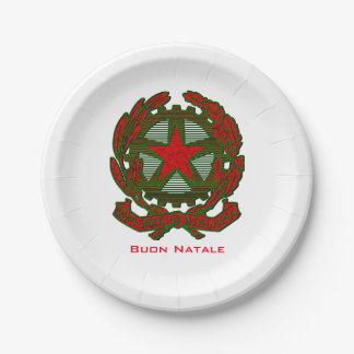 Buon Natale Italian Christmas Paper Plate