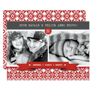 Buon Natale. Italian Custom Christmas Photo Cards
