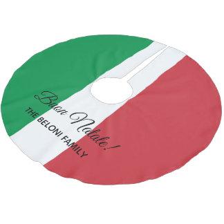Buon Natale Italian flag Christmas tree skirt