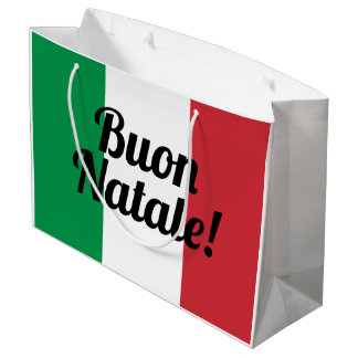 Buon Natale Italian flag Merry Christmas gift bags