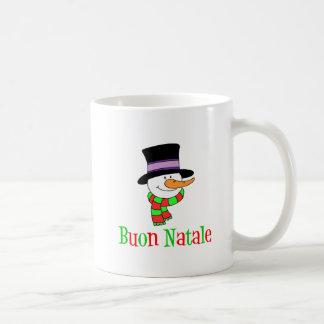 Buon Natale Italian Merry Christmas Snowman Mug