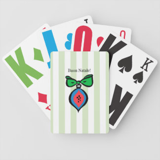 Buon Natale Ornament E-Z See Playing Cards Green