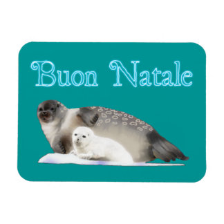 Buon Natale - Ringed Seal Rectangular Photo Magnet