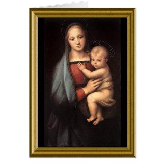 Buon natale - St. Francis Prayer in Italian Greeting Card