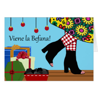 Buona Befana, Christmas Epiphany Witch Gets Ready Card