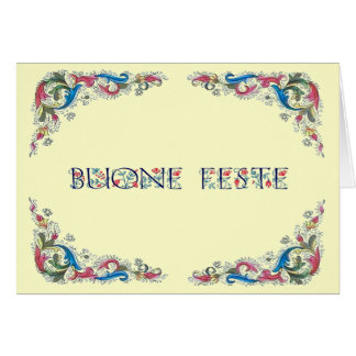Buone feste - Happy Holidays in Italian Card