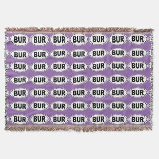 BUR Burlington Massachusetts Throw Blanket
