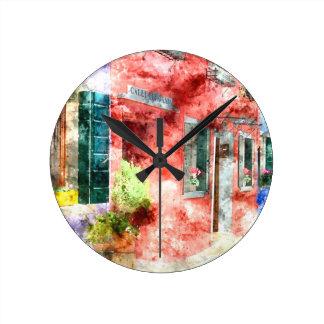 Burano Italy Buildings Clocks