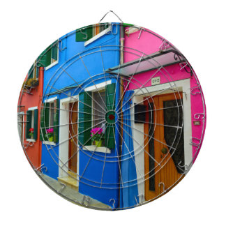 Burano Italy Buildings Dartboard