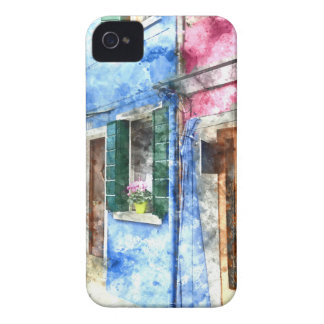 Burano Italy Buildings iPhone 4 Case-Mate Cases