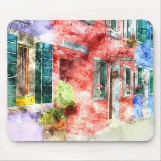 Burano Italy Buildings Mouse Pad