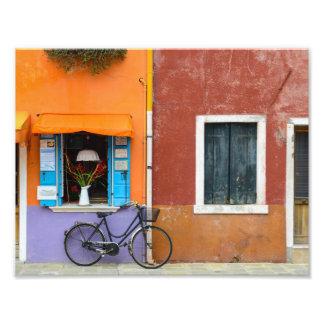 Burano Italy Buildings near Venice Italy Photo Print