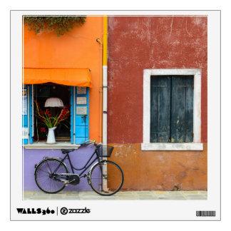Burano Italy Buildings near Venice Italy Wall Decal