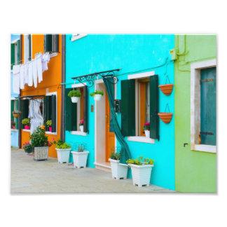 Burano Italy Buildings near Venice Photo Print