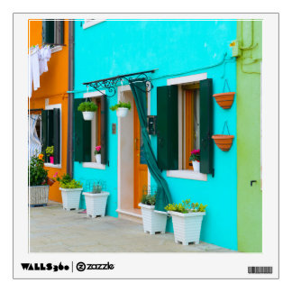 Burano Italy Buildings near Venice Wall Sticker