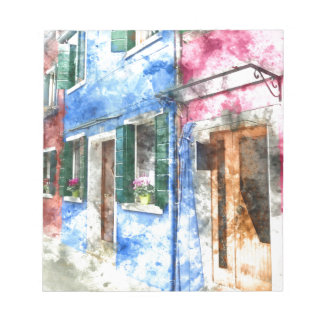 Burano Italy Buildings Notepads