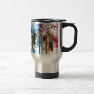 Burano Italy Buildings Travel Mug