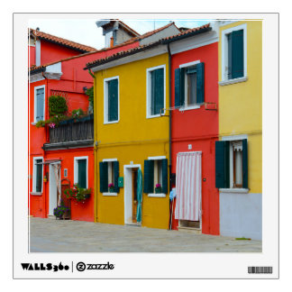 Burano Italy Buildings Wall Decal