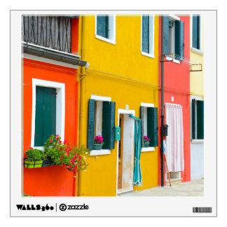 Burano Italy Buildings Wall Sticker