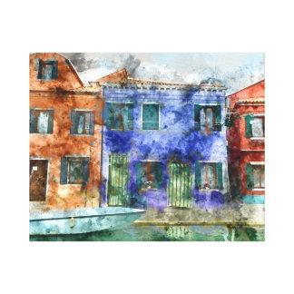 Burano Italy near Venice Italy Canvas Print