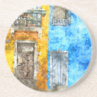 Burano Italy near Venice Italy Coaster