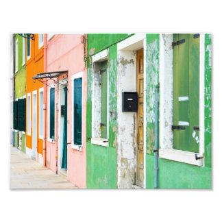 Burano Italy near Venice Italy Photo Print