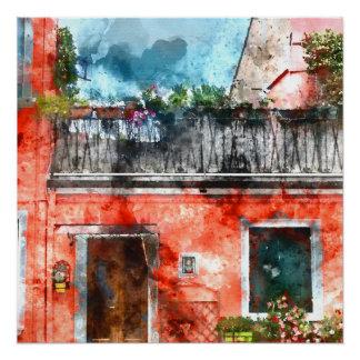 Burano Italy near Venice Italy Poster