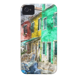 Burano Italy near Venice Italy with traditional co iPhone 4 Covers