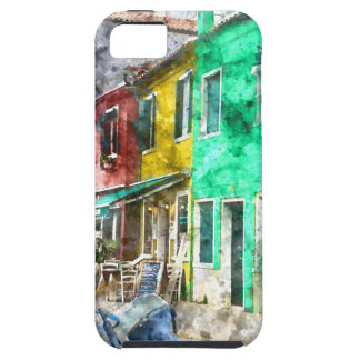 Burano Italy near Venice Italy with traditional co iPhone 5 Covers