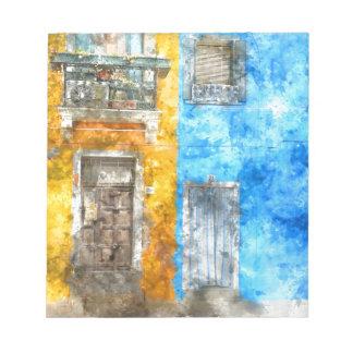 Burano Italy near Venice Italy with traditional co Notepad