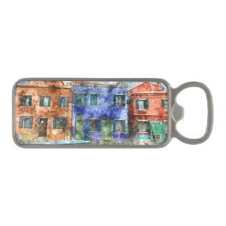 Burano  near Venice Italy  island canal with small Magnetic Bottle Opener