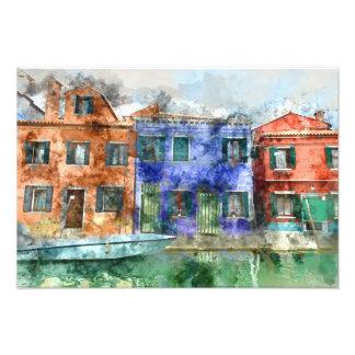 Burano  near Venice Italy  island canal with small Photograph