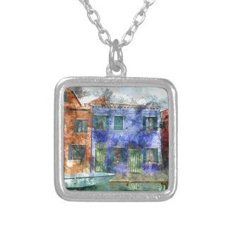 Burano  near Venice Italy Silver Plated Necklace