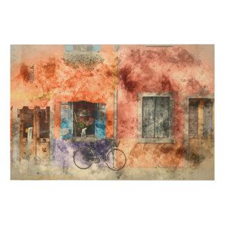 Burano  near Venice Italy Wood Wall Art