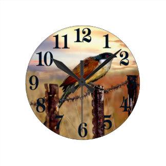 Burchell's Coucal cuckoo bird Round Clock