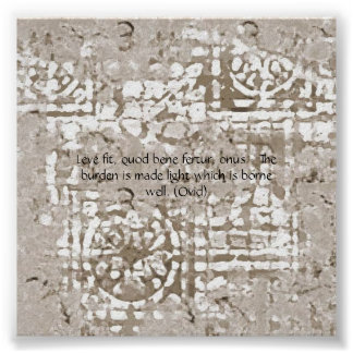 """Burden Made Light"" on ""Crumbly Castle Wall"" Poster"