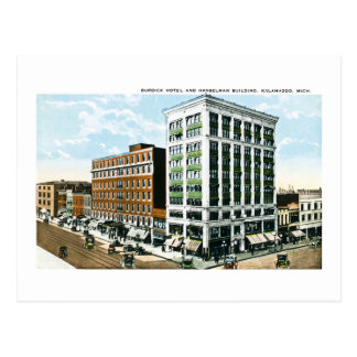 Burdick Hotel, Kalamazoo, Michigan Postcard