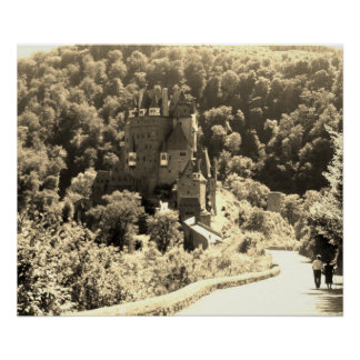 Burg Eltz Castle -- Black & White Poster