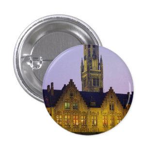 Burg Square and Belfry Tower, Bruges, Belgium Pin