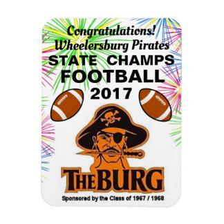Burg wins Football Championship - refrigerator Magnet