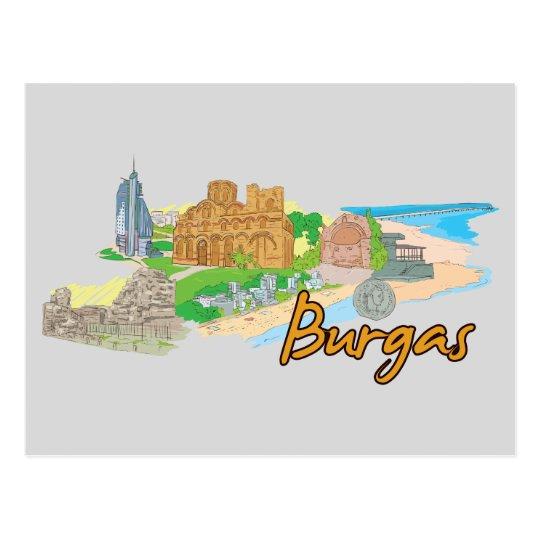 Burgas, Bulgaria Famous City Postcard