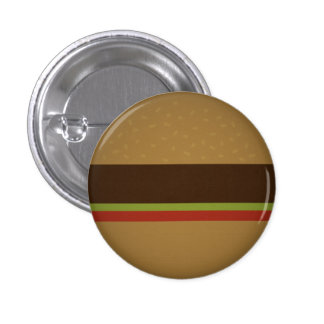 Burger 1 Inch Round Button