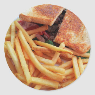 Burger and French Fries Stickers
