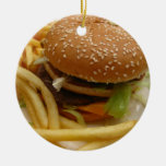 burger and fries christmas ornament
