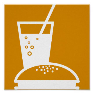 burger and lemonade orange taste explosion poster