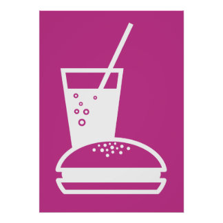 burger and lemonade pink taste explosion poster