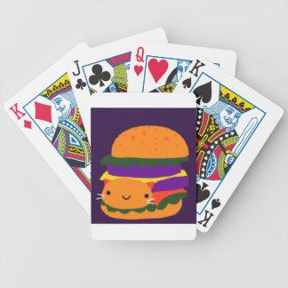 burger bicycle playing cards