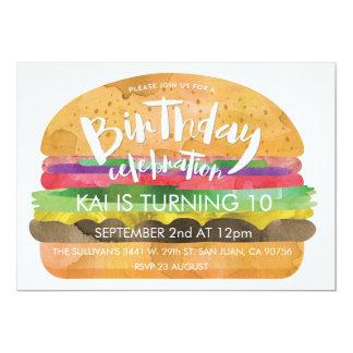 Burger Birthday Party Invitation