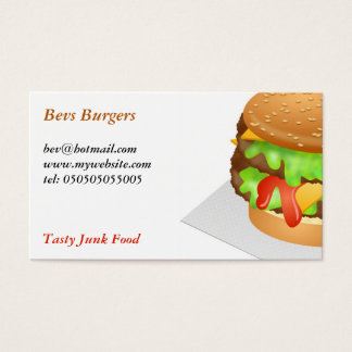 Burger Business Card