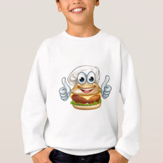 Burger Chef Food Cartoon Character Mascot Sweatshirt